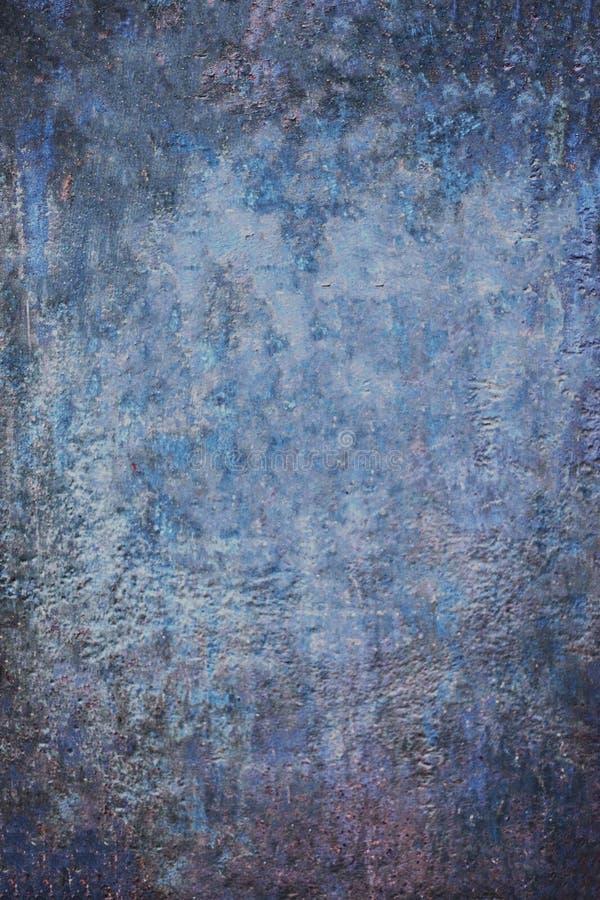 Lerciume astratto blu vecchio Backg strutturato scuro drammatico decorativo fotografia stock libera da diritti