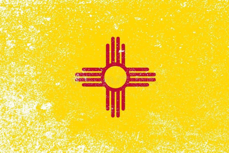 Lerciume della bandiera dello stato del New Mexico illustrazione vettoriale
