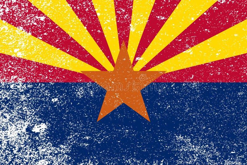 Lerciume della bandiera dello stato dell'Arizona illustrazione di stock