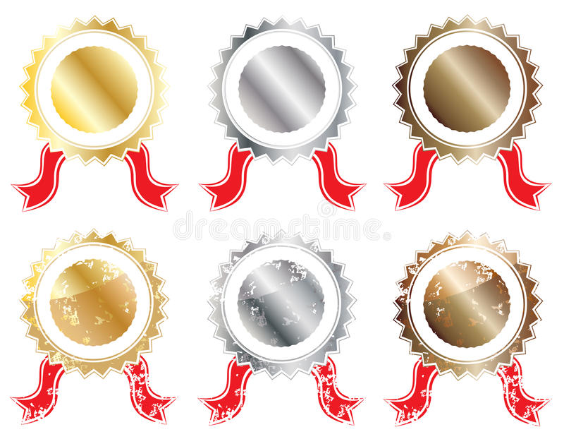 Lerciume della guarnizione del bronzo dell'argento dell'oro royalty illustrazione gratis
