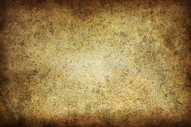 Lerciume di struttura di Art Old Paper Scrapbook Background illustrazione di stock