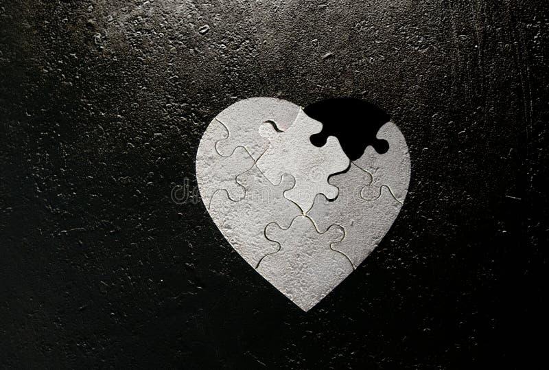 Lerciume a forma di del cuore fotografie stock