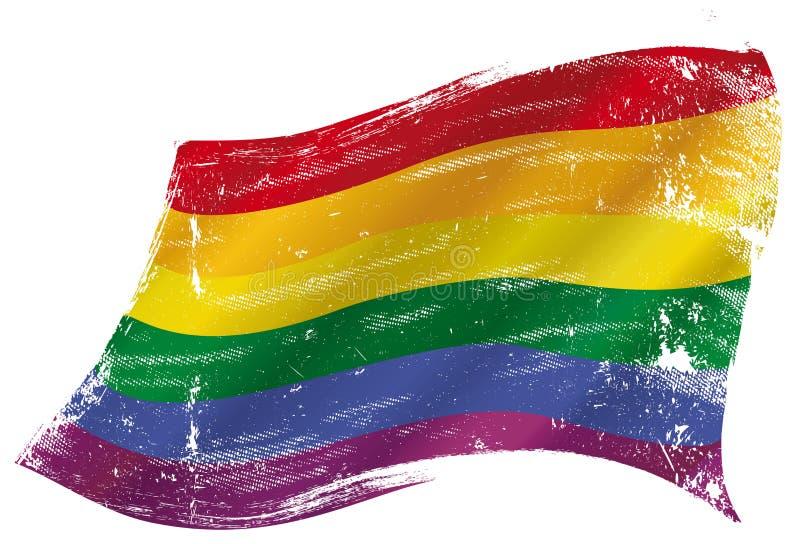 Lerciume gay della bandiera royalty illustrazione gratis