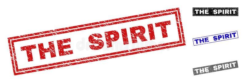Lerciume i bolli di rettangolo graffiati SPIRITO royalty illustrazione gratis