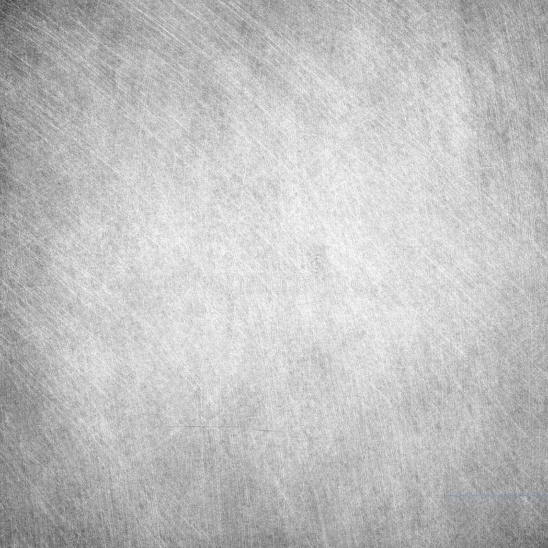 Lerciume invecchiato, struttura quadrata grigia graffiata del metallo Vecchio fondo del ferro immagini stock libere da diritti