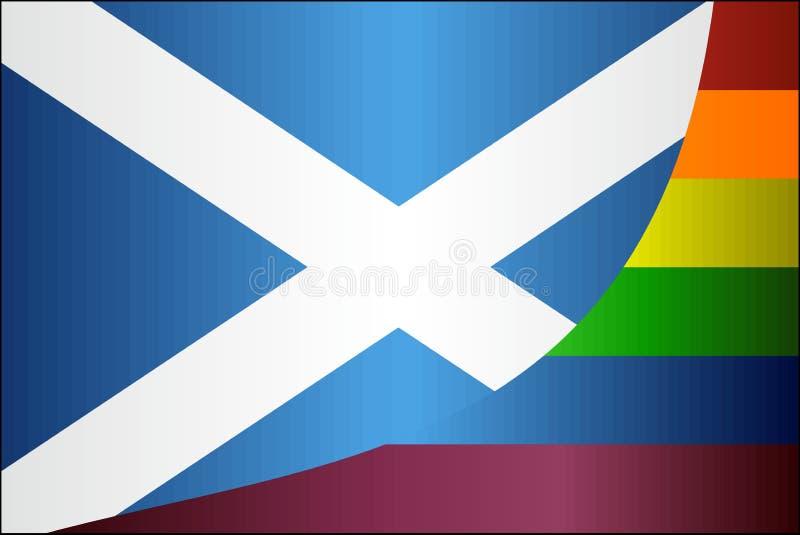 Lerciume Scozia e bandiere gay royalty illustrazione gratis