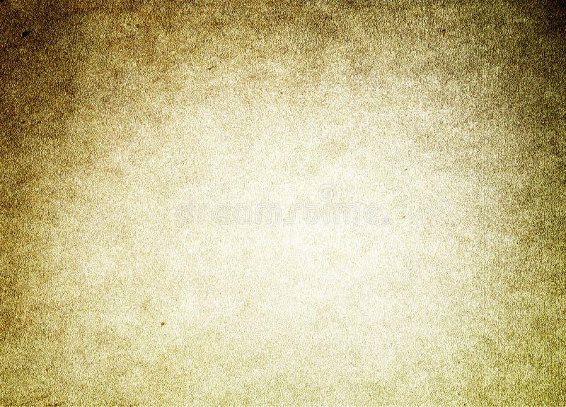 Lerciume scuro della struttura del vecchio fondo di carta di Brown retro illustrazione di stock