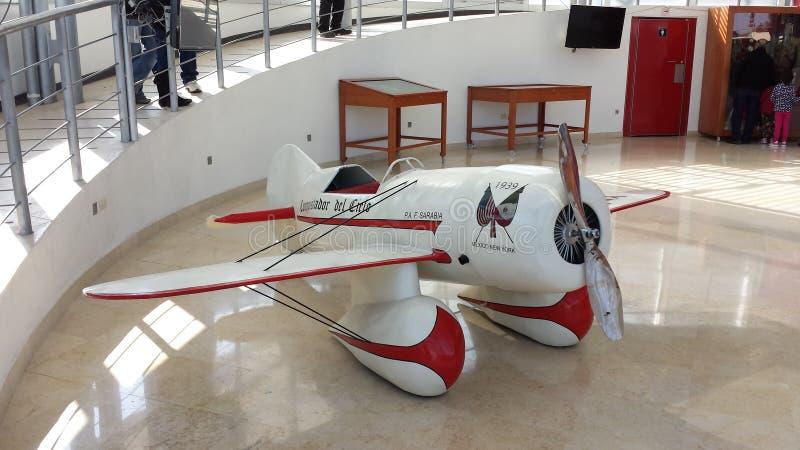 Lerdo, Durango. Réplica en miniatura del avion de Francisco Sarabia stock photo