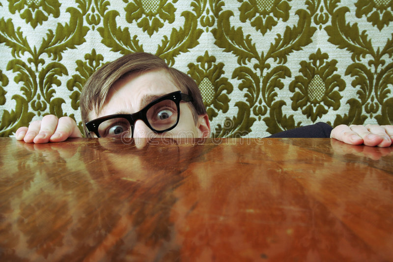 Lerdo Scared fotografia de stock royalty free