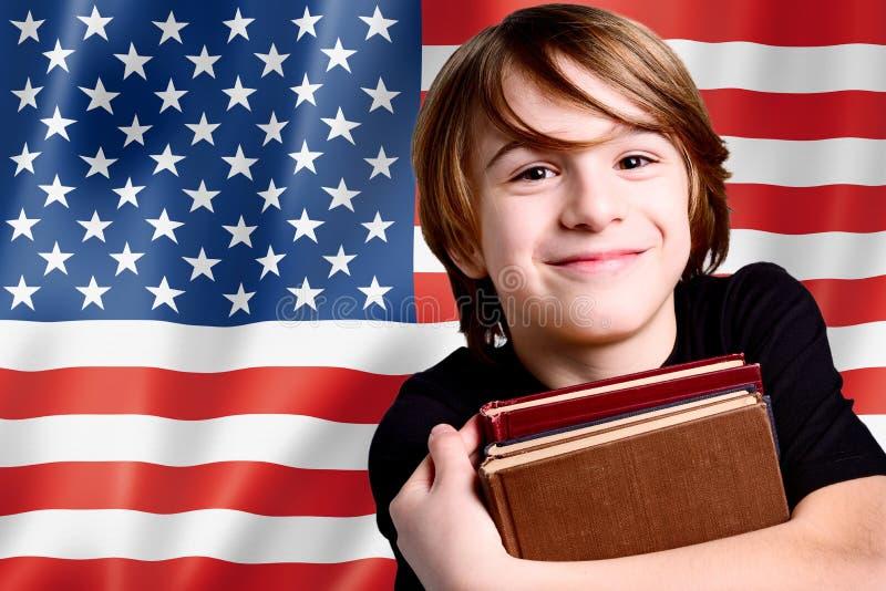 Leren engelstalig in de V.S. royalty-vrije stock afbeeldingen