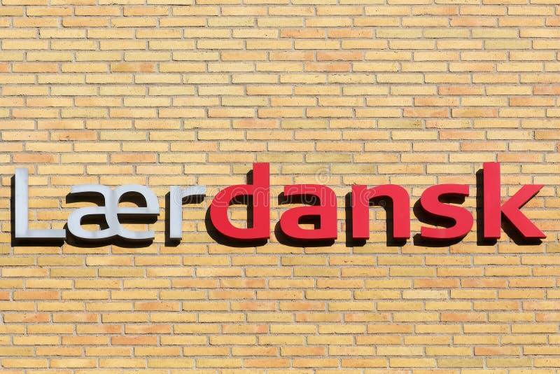 Lerend Deens schoolteken stock foto