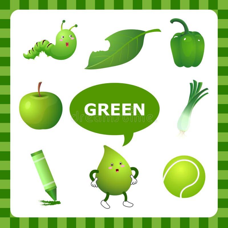 Lerende groene kleur vector illustratie