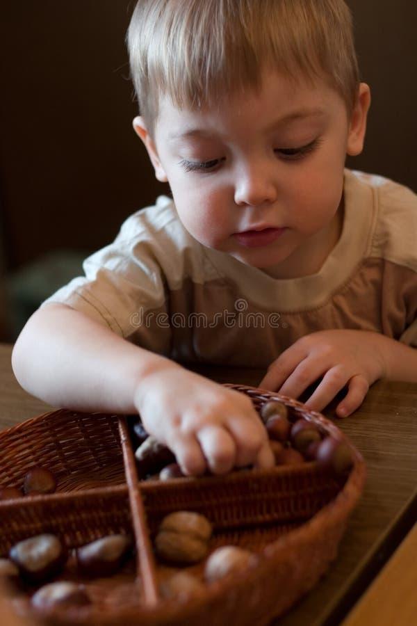 Lerende jongen stock foto's