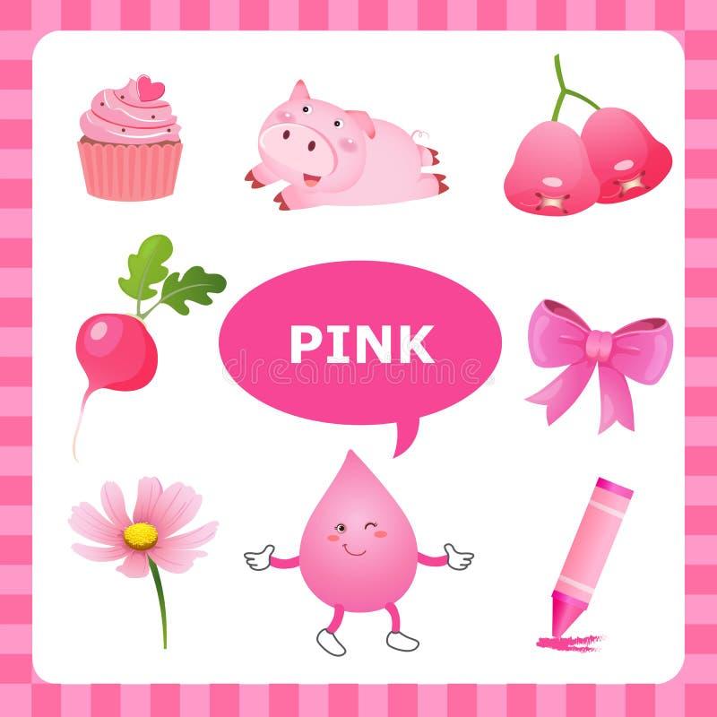 Lerende Roze kleur vector illustratie