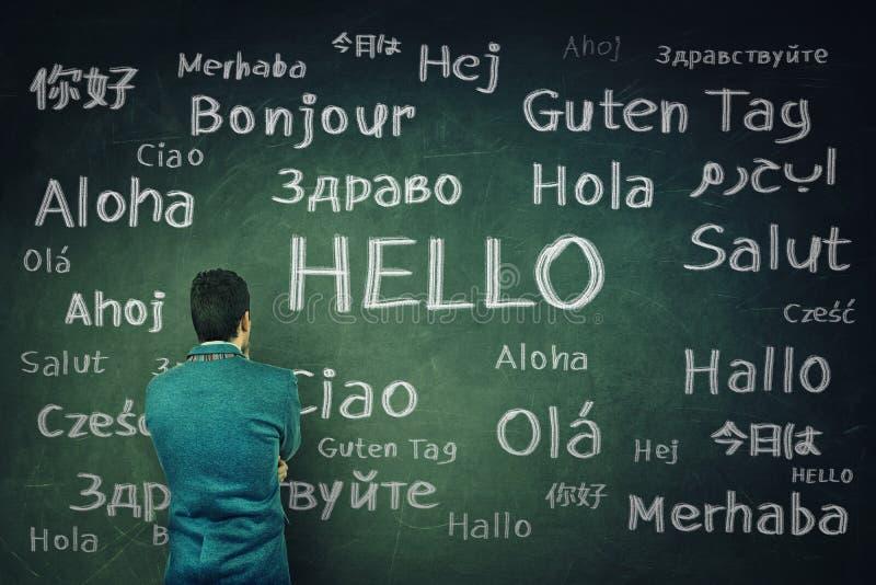 Lerende verschillende talen stock afbeeldingen
