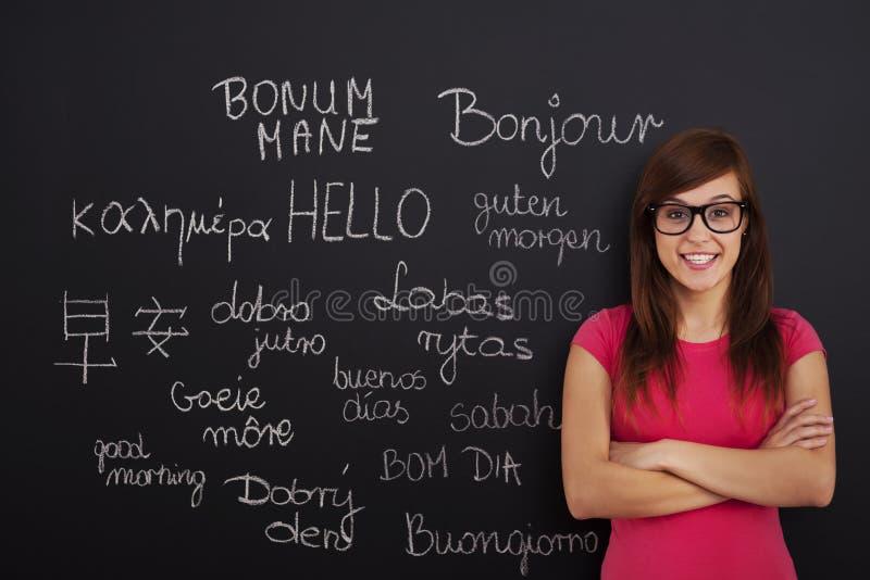 Lerende vreemde talen royalty-vrije stock foto's