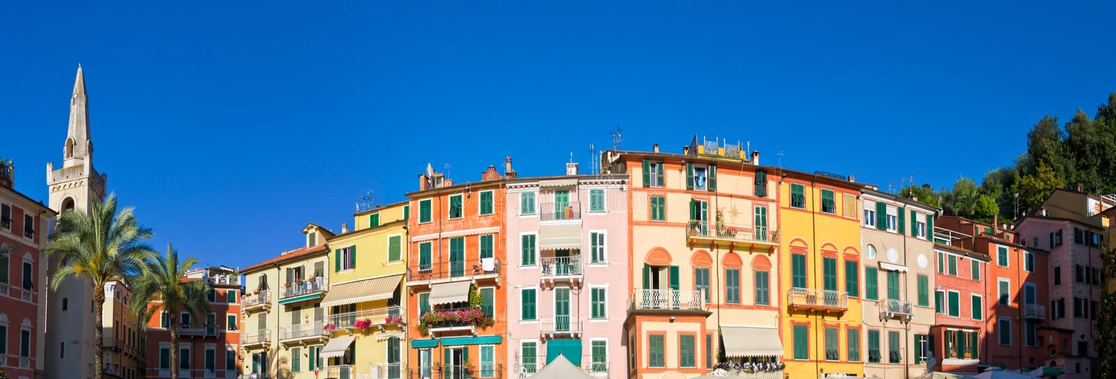 Lerici architecture, Italy royalty free stock photos