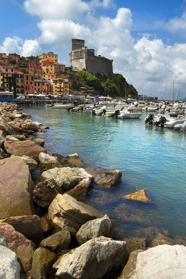 Lerici - La Spezia - Italie photos libres de droits