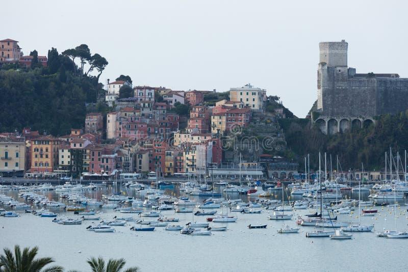 Lerici, opinión de Italia del puerto fotos de archivo libres de regalías