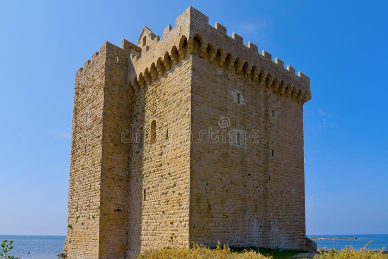 Lerins修道院,法国被加强的修道院  免版税库存图片