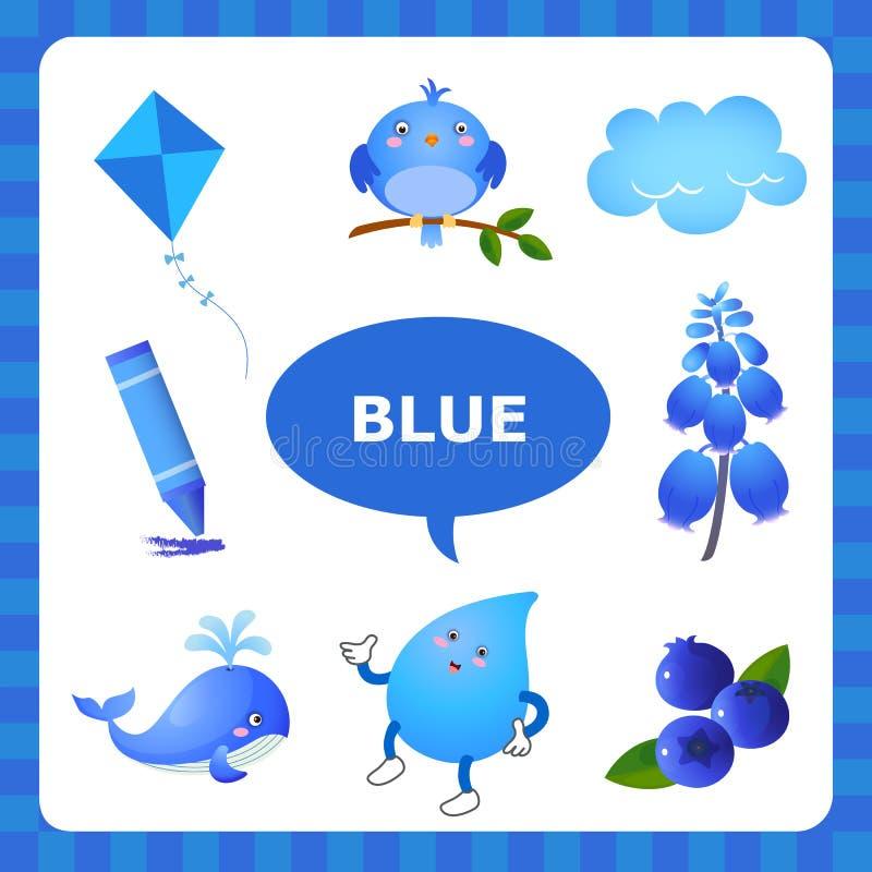 Lernen der blauen Farbe stock abbildung