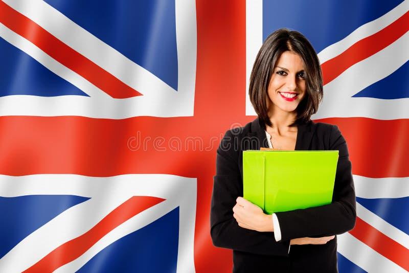 Lernen der englischen Sprache stockbild