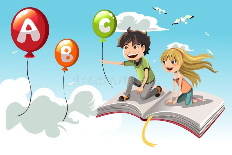 Lernen der Kinder lizenzfreie abbildung