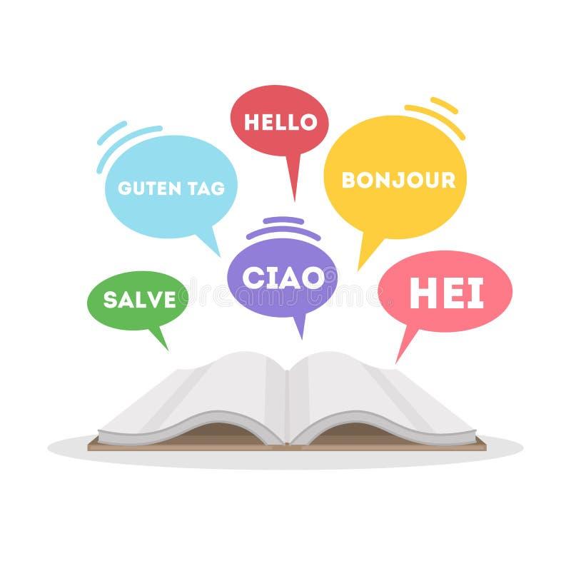 Lernen des Sprachkonzeptes lizenzfreie abbildung