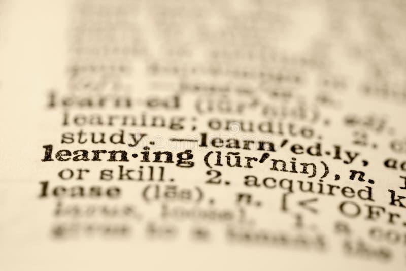 Lernen im Verzeichnis. lizenzfreies stockbild