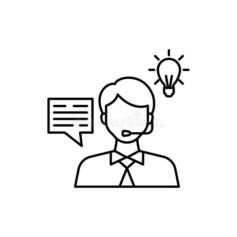 Lernen, Kundendienst, Lampenikone Element der Ausbildungslinie Ikone lizenzfreie stockfotos