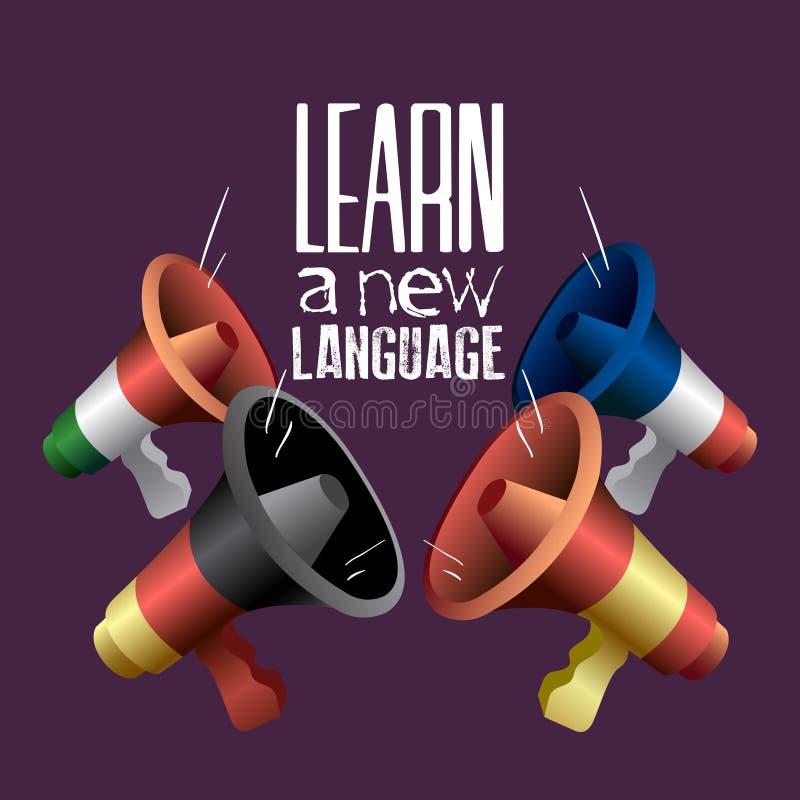 Lernen Sie eine Sprache stock abbildung