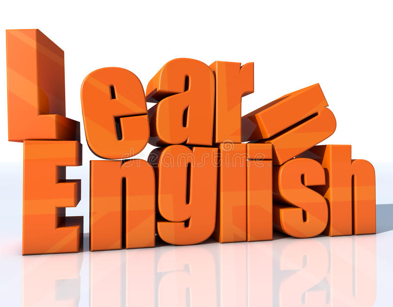 Lernen Sie Englisch lizenzfreie abbildung