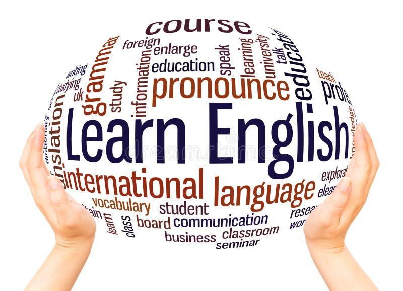 Lernen Sie englisches Wortwolken-Bereichkonzept lizenzfreie stockfotos