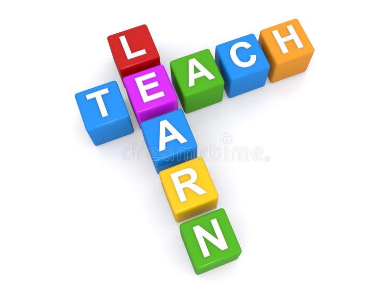 Lernen Sie und unterrichten Sie Zeichen vektor abbildung