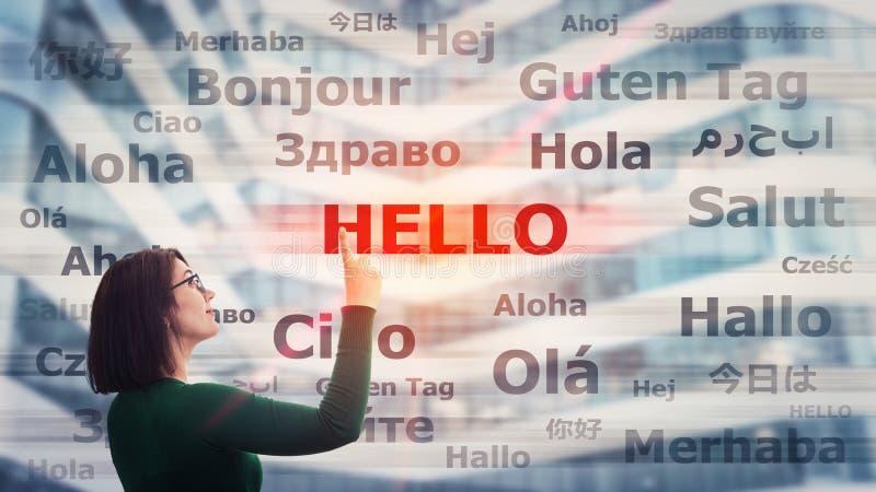 Lernen Sie verschiedene Sprachen vektor abbildung