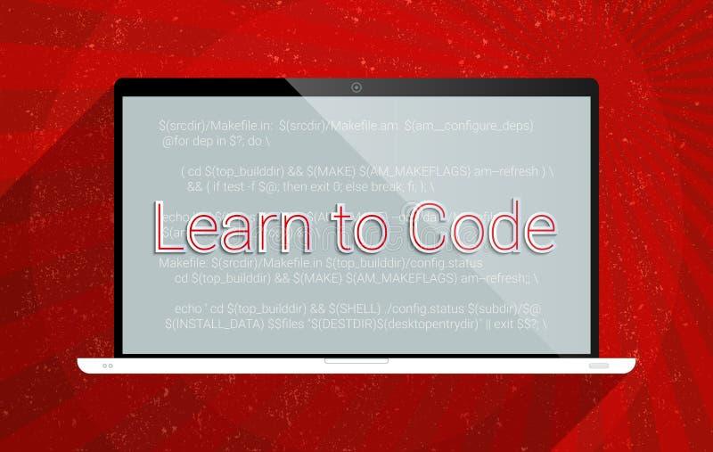 Lernen Sie zu kodieren vektor abbildung