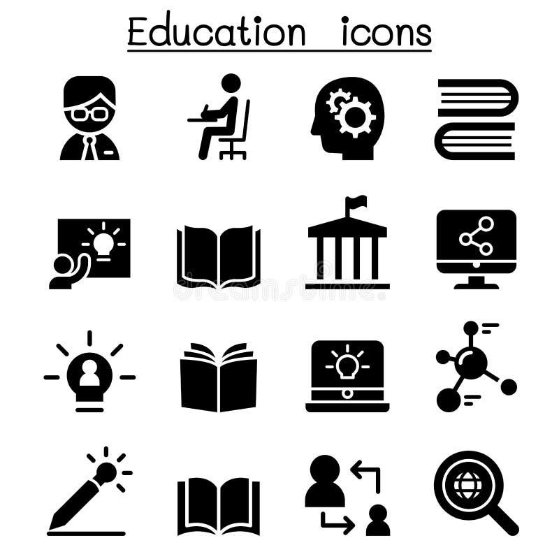 Lernen- u. Bildungsikonen lizenzfreie abbildung