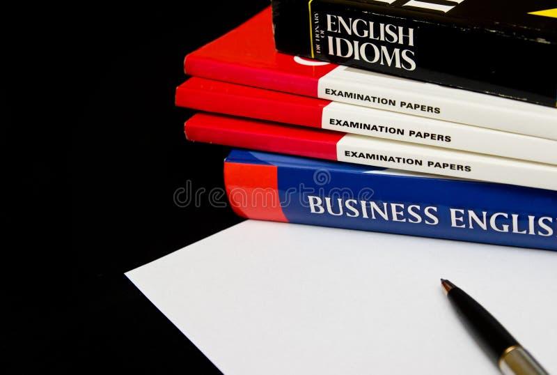 Lernen von Englisch lizenzfreies stockbild