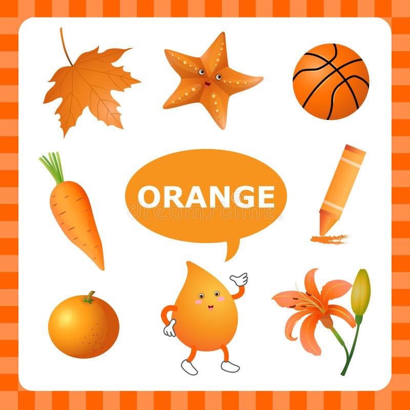 Lernen von Orangecolor stock abbildung