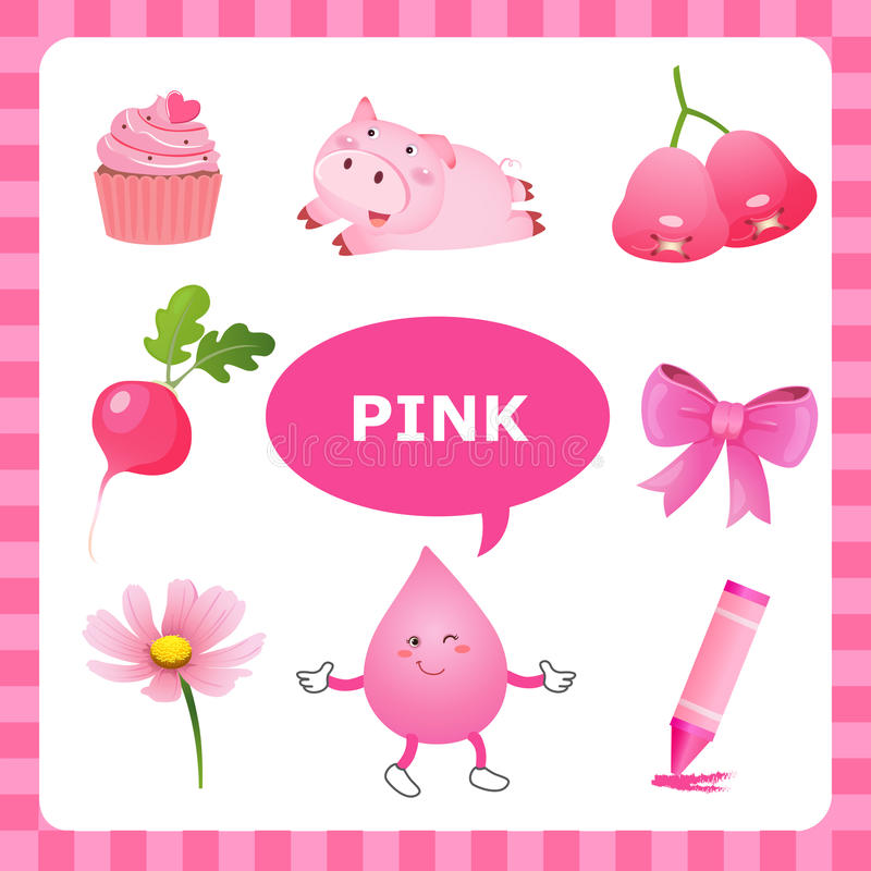 Lernen von rosa Farbe vektor abbildung