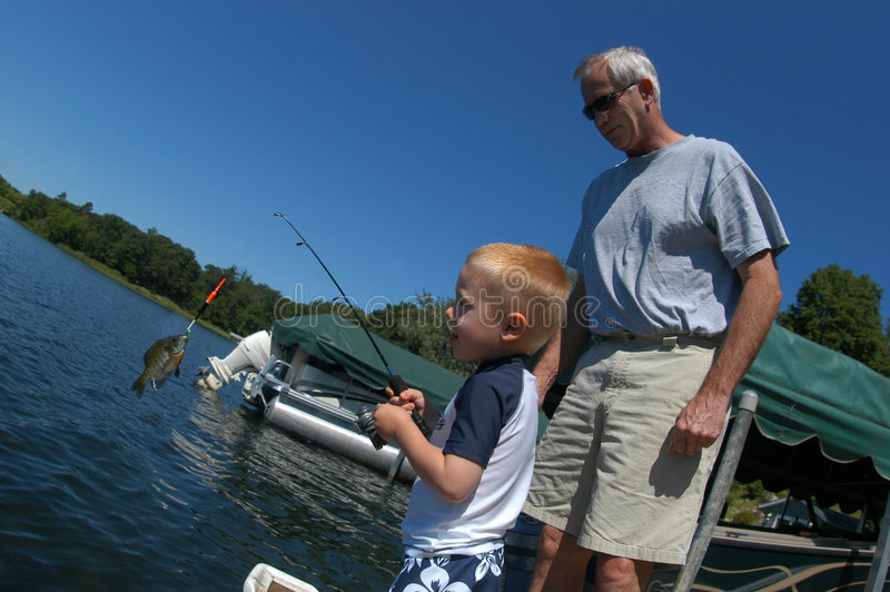 Lernen zu fischen lizenzfreies stockbild