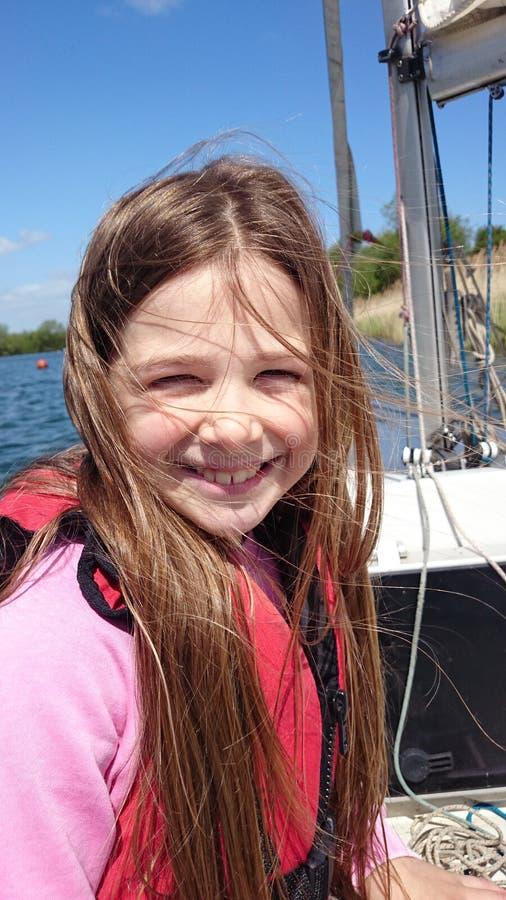 Lernen zu segeln stockbild