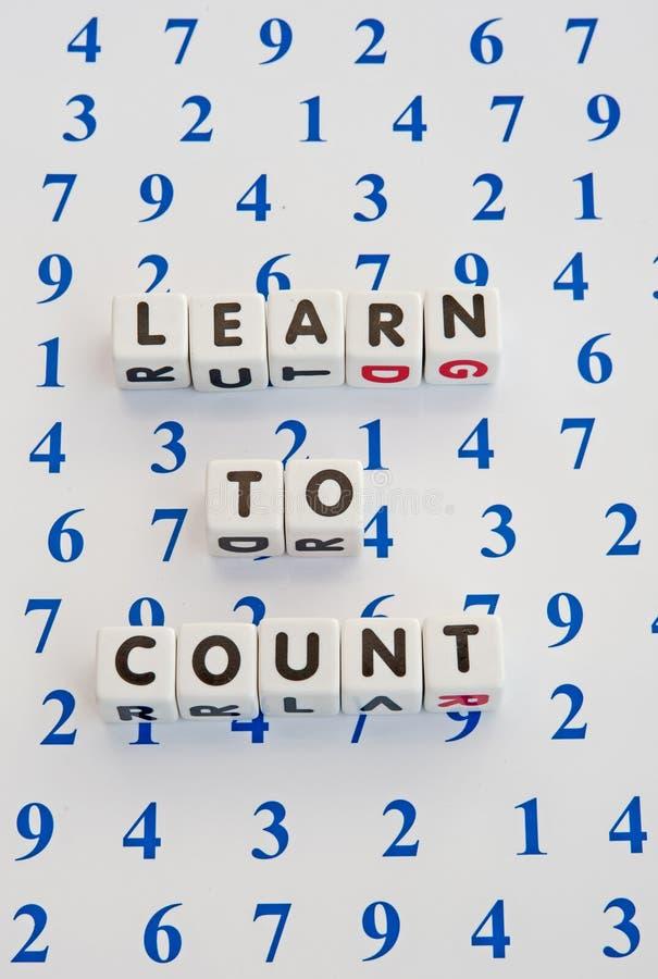 Lernen zu zählen lizenzfreies stockfoto