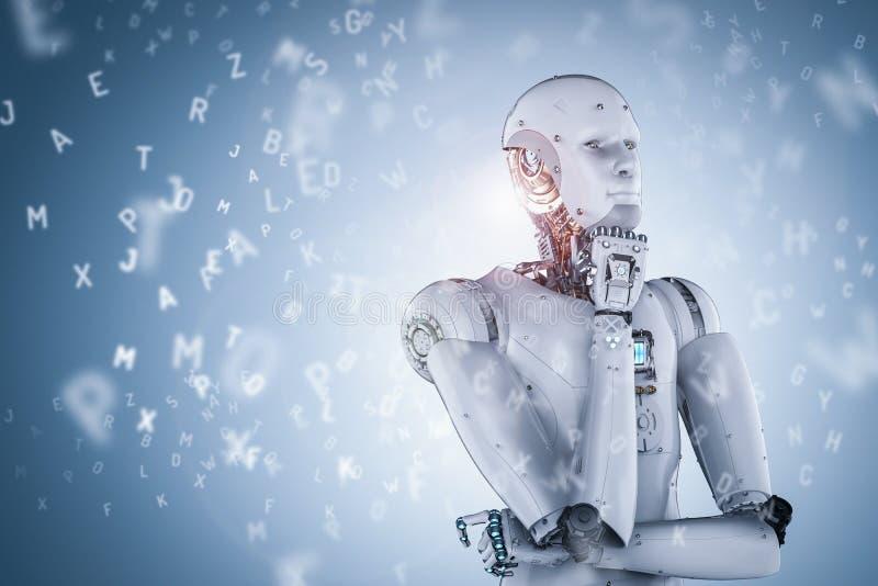 Lernender oder Lernfähigkeit einer Maschine Roboter stock abbildung