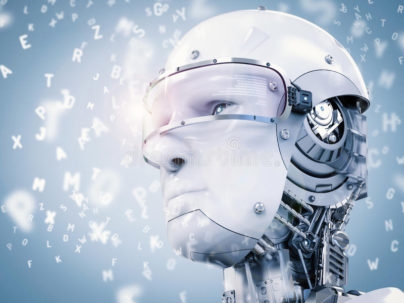 Lernender oder Lernfähigkeit einer Maschine Roboter vektor abbildung