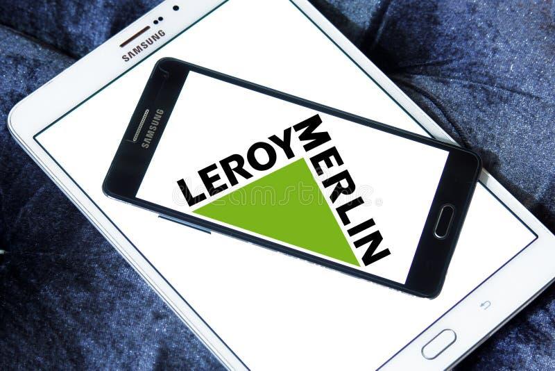 Leroy Merlin retailer logo. Logo of Leroy Merlin retailer on samsung mobile. Leroy Merlin is a French headquartered home improvement and gardening retailer royalty free stock photo