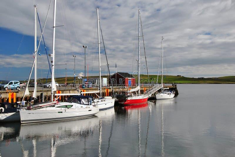 Lerwick Harbour, Shetland Islands royalty free stock photos