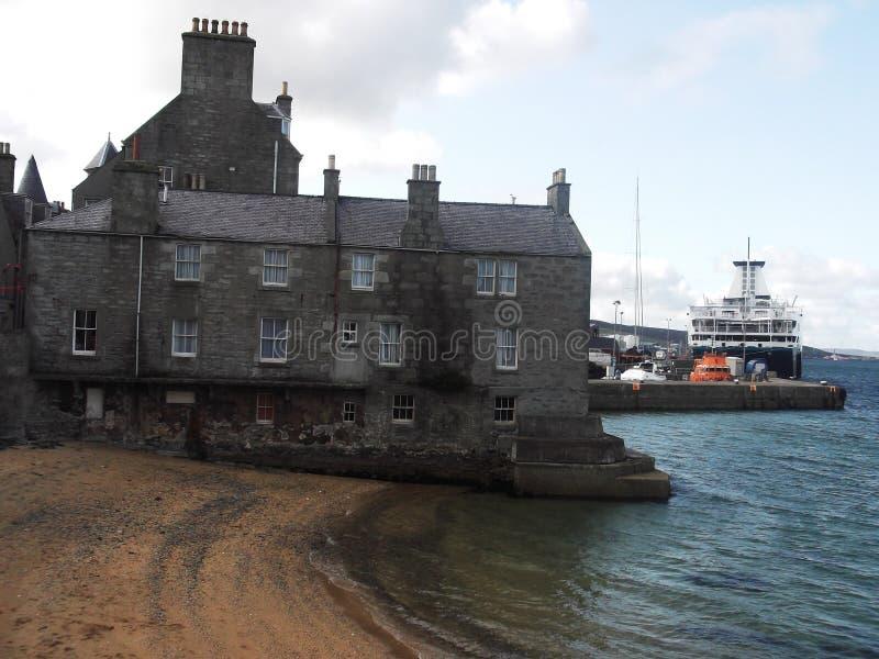 Lerwick schronienie, Shetland wyspy, Szkocja obrazy stock