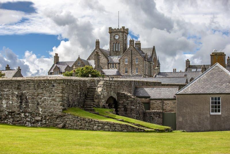 Lerwick stadshus, Shetland, Skottland fotografering för bildbyråer