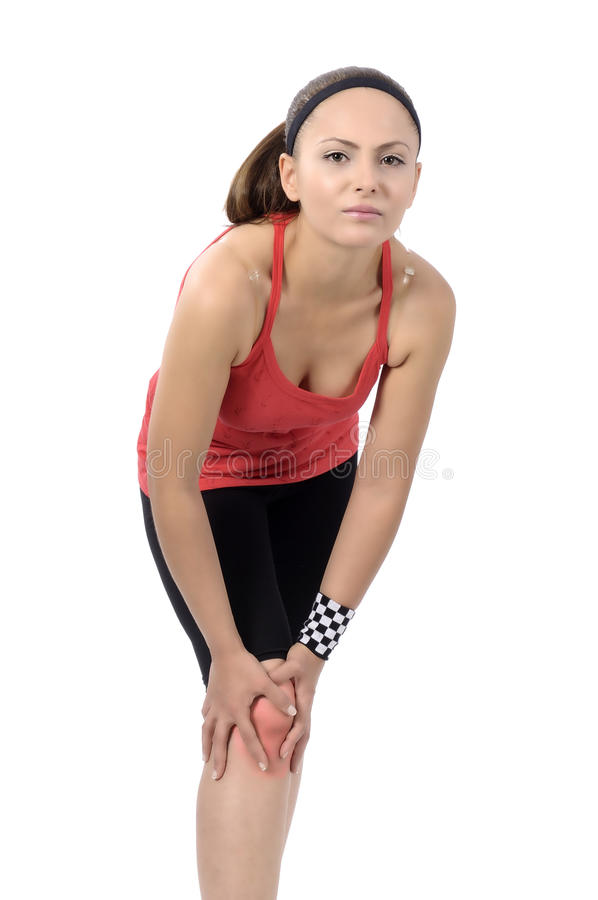 Lesão de joelho imagens de stock royalty free